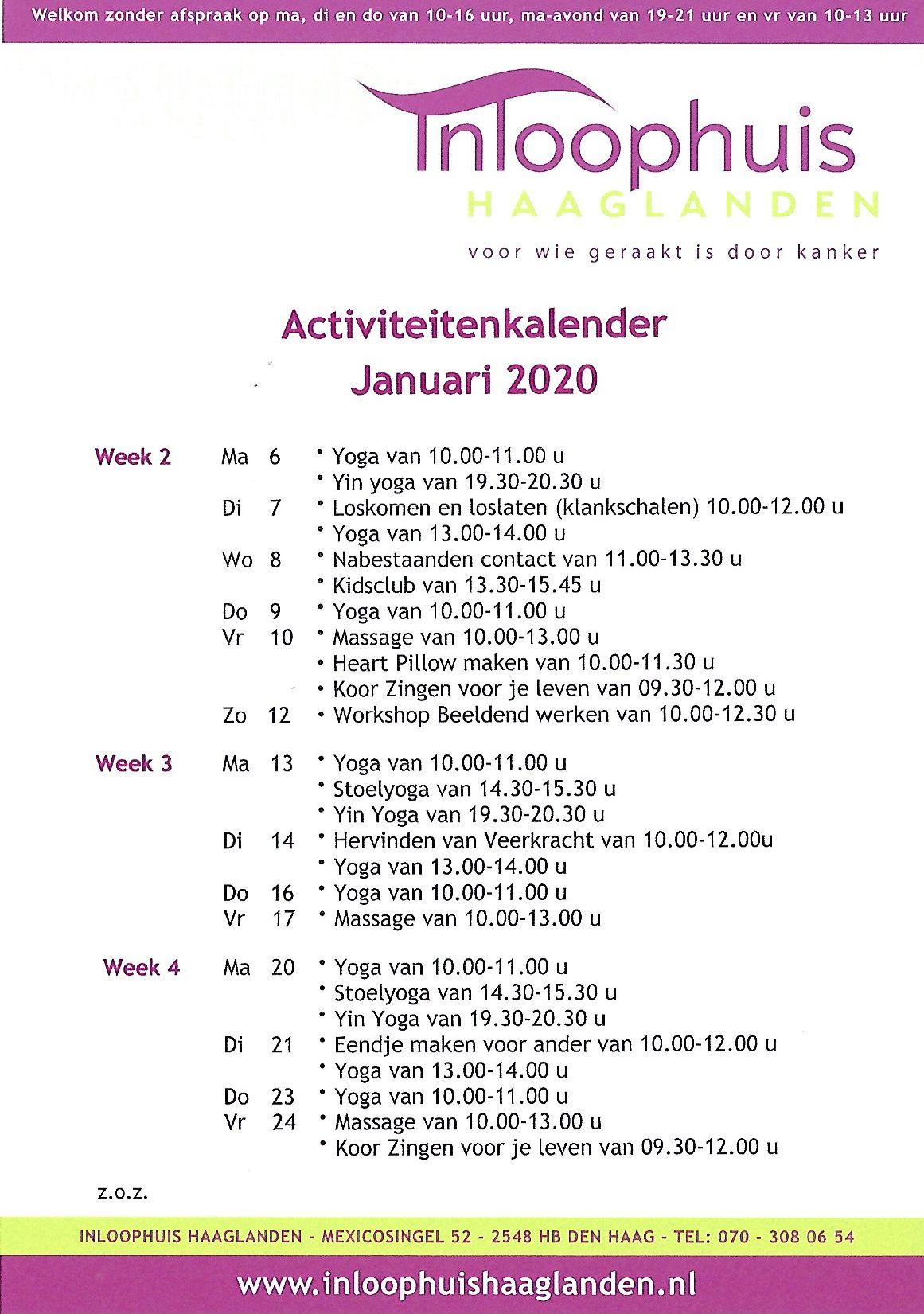activiteitenkalender websit