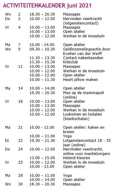 activiteitenkalender juni 21